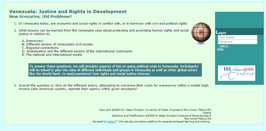 Venezuela Justice and Rights in Development
